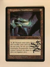 Cursed Scroll - Magic MTG - Artifact - Tempest - NM - Portuguese - SIGNED!