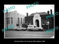 OLD POSTCARD SIZE AUSTRALIAN PHOTO OF VICTORIAN POLICE FOOTSCRAY STATION c1960