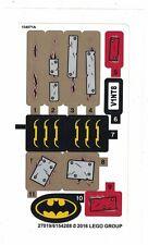 LEGO Batman SCARECROW HARVEST OF FEAR Replacement STICKER SHEET Set # 76054 NEW
