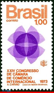 1283 BRAZIL 1973 24th CONGRESS OF THE CHAMBER OF COMMERCE, MI# 1366 C-780, MNH
