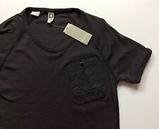 G-Star RAW Men Slim-Fit Short-Sleeve Pocket T-Shirts Tee Charcoal Grey Large