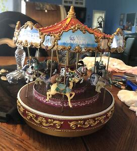 1999 Mr. Christmas RARE Musical Carousel Triple Decker Old Fashioned