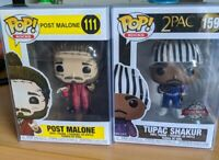 Funko POP! Rocks Post Malone Vinyl +Tupac shakur pop protector include