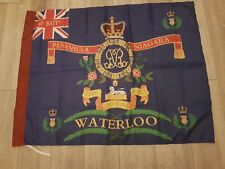 The Royal Scots 3rd Battalion Waterloo Regimental colours flag