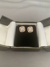 10kt Rose And White Gold Diamond Earrings .50cttw- NWT