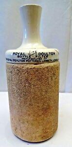 Antigüedad Royal Doulton Bottle Filter Gres Jarro Decantador Lambeth Londres Old