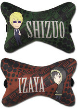 *NEW* Durarara!! Shizuo & Izaya Car Pillow Set of 2