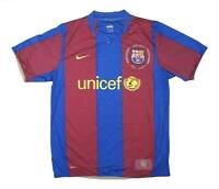 Barcelona 2007-08 Authentic Home Shirt (Excellent) M Soccer Jersey