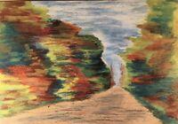 Herbstimpressionen Expressiv Landstrasse Anonym 35 x 50