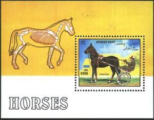 AFGHANISTAN Mint S/S  Fauna Horses 1996  avdpz