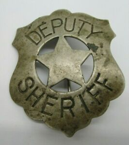 Vintage Used & Obsolete Deputy Sheriff Badge OLD PIN BACK ~ NO RESERVE