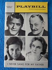 I Never Sang For My Father - Longacre Theatre Playbill - Februray 1968 - Gish