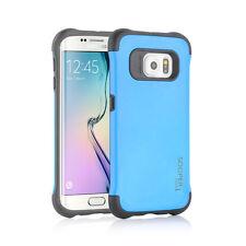 Sooper Cool Protective Hybrid Cover Case for Samsung Galaxy S6 Edge Aqua Blue SC