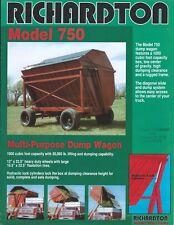Farm Equipment Brochure - Richardton - 750 - Dump Wagon - Cart (F6233)