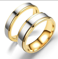 TITANIUM Wedding Rings Set  His and Hers Engagement Bands  Mirror Polish