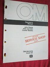John Deere 112 120 140 Tractor 43c Amp 54c Center Blade Operators Manual Omm45478