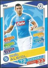 TOPPS MATCH ATTAX CHAMPIONS LEAGUE 2016-17 #NAP05-NAPOLI-RAUL ALBIOL
