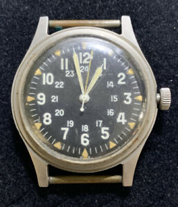 """GG-W-113 SEPT 1969  WRIST WATCH Vietnam Era """"AS IS"""" Not Running, PARTS OR REPAIR"""