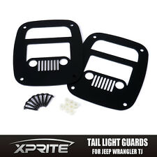 "Xprite Taillight Cover Guard for 1996 - 2006 Jeep Wrangler TJ YJ ""Jeep Grille"""