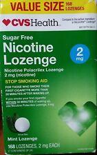 CVS Health Sugar Free Nicotine Lozenge 2 mg Mint Lozenge 168 exp 10/20