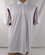 Sport Tek Back Blocked Micropique Sport-Wick Polo White/Maroon XL ST656 648C