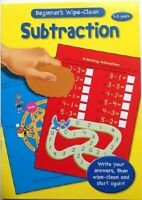 Beginners Wipe Clean Subtraction Book 3-5 Years Educational Home Learning Childs