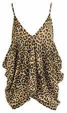 B36 NEW WOMENS ROMPER V NECK LOOSE BAGGY FIT LADIES CAMI LAGENLOOK VEST TOP.