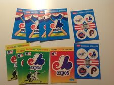 VINTAGE MONTREAL EXPOS FLEER BASEBALL STICKERS MIXED LOT of 10