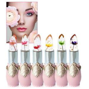 Bright Flower Crystal Jelly Lipstick Cosmetic Magic Temperature Change Color Lip
