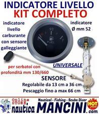 INDICATORE LIVELLO Carburante KIT COMPLETO con GALLEGGIANTE Serbatoio REGOLABILE