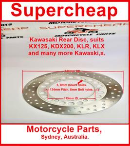 Rear Disc, Kawasaki Suites KX125, KDX200, KX250, KX500, KLX650 and many more.