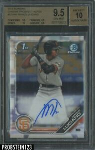 2019 Bowman Chrome Marco Luciano RC Rookie AUTO Giants BGS 9.5 w/ 10