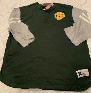 Green Bay Packers Mitchell & Ness 3/4 Sleeve Shirt Throwback Logo NFL New 3XL