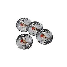 Winter Robin Set Of 4 Glass Coasters