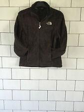 Para mujer THE NORTH vintage retro marrón paño grueso y suave urbano FACE Suéter Chaqueta pequeña 8/10
