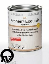 Jaeger 695 Kronen Exquisit seidenglänzend 0,75l Holzsiegel Klarlack