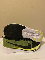 Size 14 Nike Zoom Fly Flyknit Black Volt White Men Running Shoes BV6103-002