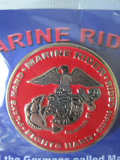 UNITED STATES MARINE CORPS USMC DEVIL DOGS MARINE RIDER PIN - MADE BY GUNZ - NEW