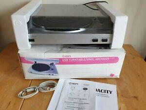 Ion USB TurnTable Vinyl Archiver iTTUSB05 Open Box unused convert records to mp3