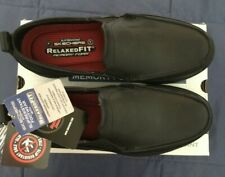 Skechers Work Hobbes Sz 11 Blk Slip-On Slip Resistant Relax Fit Memory Foam New