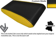 BLACK & YELLOW CUSTOM FITS LAVERDA 650 668 REAR LEATHER SEAT COVER ONLY