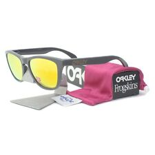 Oakley OO 9013-31 POLARIZED FROGSKINS Dark Grey Fire Iridium Mens Sunglasses New
