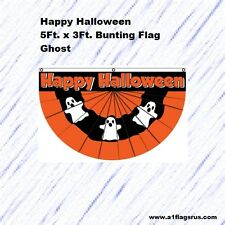 5x3ft Halloween Bunting (Ghost) Flag
