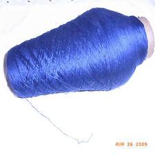 BOBINE FIL TRICOT OU CROCHET 0.63 KG (avec cône) fil dble marine / knotting yarn