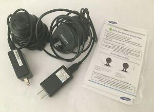 2 Samsung SNH-V6414BN SmartCam HD 1080p Wi-Fi Security Cameras & Power Plugs
