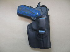 "Wilson Combat 1911 4"" 4.25"" IWB Leather In Waistband Conceal Carry Holster BLK"