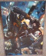 Death Stroke vs The Winter Soldier Glossy Print 11 x 17 In Hard Plastic Sleeve