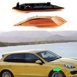 1xFor Porsche Cayenne 10-14 Yellow Right Passenger Turn Signal Lamp Cover NoBulb