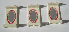 Lego part 2362pb03 Panel 1x2x3 with oval mirror pattern on inside.For Set 6410