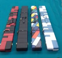 Rosetta Wide Limited Number Patchwork Diamond Leather Pool Snooker 3/4 cue case.